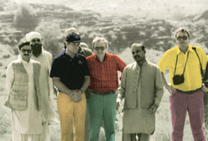 US and Pakistani intelligence bigwigs get chummy at a mujahidin training camp in 1987. Note then-Director of the ISI (Inter-Service Intelligence) Major Gen. Hamid Gul (front left) and then-Director of the CIA William Webster (second left).