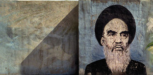 The late Ayatollah Khomeini immortalized on a mural in Qom, Iran.Patrick Brown / PANOS