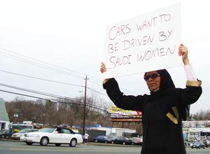Wajeha al-Huwaider demands the right to drive.