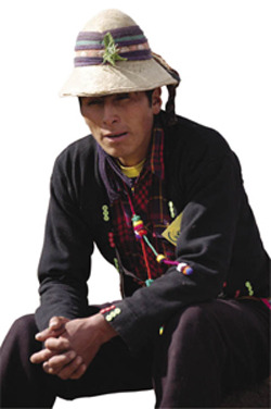 Gregorio Tarapaqui: local activist in a community threated by Xstrata's plans.Yadira Hermoza