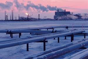 Pouring oil on frozen waters: Prudhoe Bay, operated by BP, is by far the largest oilfield in the US. Sprawling across the North Slope, it currently produces about 400,000 barrels of oil a day, with an estimated  2 billion still to exploit.Photo by: Bryan and Cherry Alexander Photography