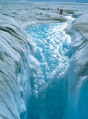 Melting sea-icePhoto: Roger Braithwaite / Still Pictures