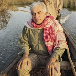 Azzam Alwash in the new flourishing marshlands.