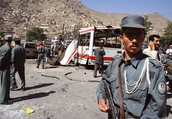 Increasingly insurgents are using Iraq-style tactics such as suicide and roadside bombings. Fardin Waezi / Aina Photo Agency / Afghanistan