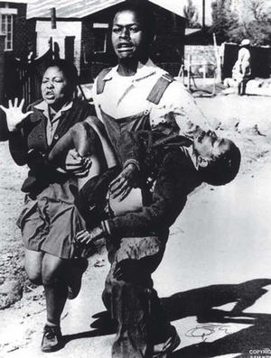 The iconic photograph of Hector Pieterson, fatally injured in the Soweto uprising.Photo: Sam Nzima