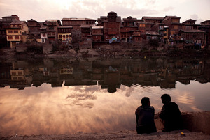Home no more: the Pandit minority were forced to flee their houses along the Jhelum river in Srinagar more than 20 years ago.Sofi Lundin