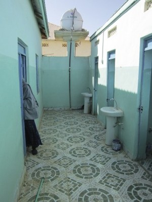 Girl-friendly: new toilet facilities at the Ga'an Libah school in Somaliland.