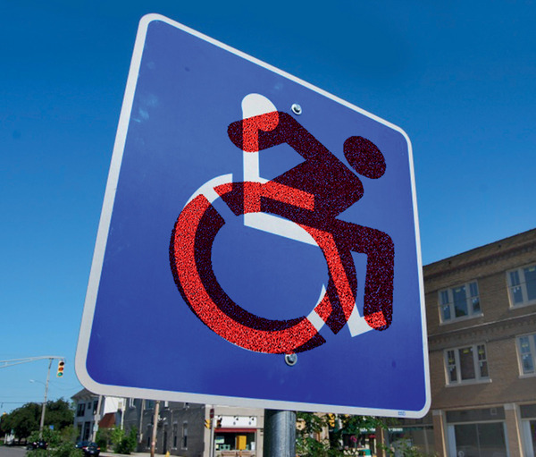 Is it time for a new wheelchair access icon? A group calling itself the Accessible Icon Project proposes a more dynamic version of the International Symbol of Access, in circulation since 1969. The BBC reports that the new icon started as a piece of 'guerrilla art' on the campus of Gordon College near Boston, US. Artist Sara Hendron, one of those behind the project, says the new symbol is 'a metaphor for self-direction and self determination'. accessibleicon.orgSteve A Johnson under a CC Licence