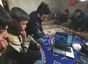 Rebel forces have uploaded hours of video footage on to YouTube to condemn human rights abuses in Syria and document defections.Photo: Khalil Ashawi / Reuters