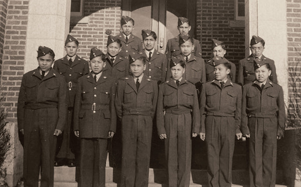 Aboriginal pupils at Edmonton Residential School, Alberta in the 1950s. Embedded in a wider policy of assimilation, the church-run schools have been accused of cultural genocide.