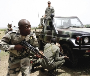 Calling the shots: a US Special Forces soldier training Malian troops in Kita, May 2010.
