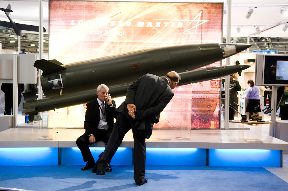 DSEi arms fair in London, September 2013.