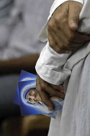 No friend of the poor? Mother Teresa once said they should 'accept their lot'.AP Photo/Bikas Das