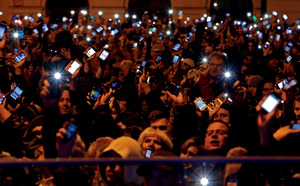 New laws to restrict internet freedom through taxation brought thousands onto the streets of Budapest in late 2014.Laszlo Balogh / Reuters