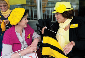 Australia's Knitting Nannas: tackling climate change one stitch at a time.Photo: Jeremy Buckingham under a CC Licence