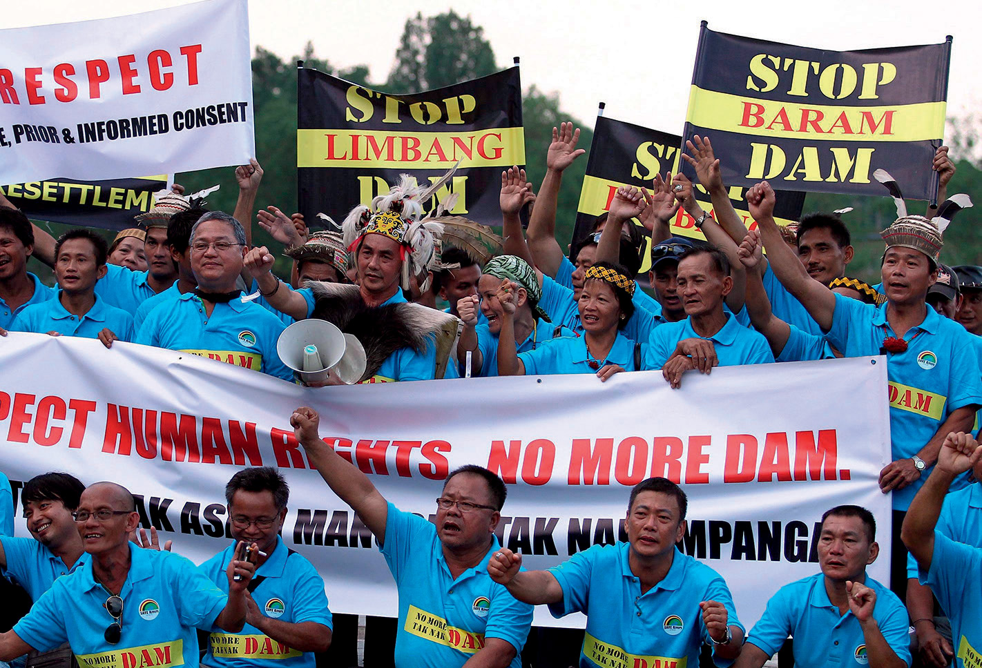 No dam way: Indigenous peoples protest at the International Hydropower Association conference on Borneo.