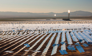 The Ivanpah solar concentrating power station in California. Coming soon to the Sahara?Photo: Ashley Cooper pics / Alamy