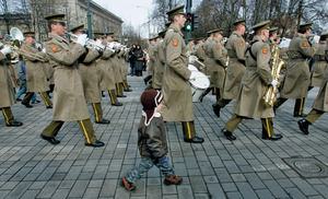 Stepping up: Lithuanian youngsters are being encouraged to regard defence as a responsibility.Photo: Ints Kalnins/Reuters