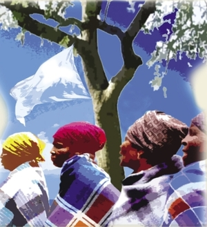 Nuptials in Botswana Illustration: Sarah John