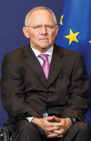 Holding court: the German finance minister has big plans for Europe.