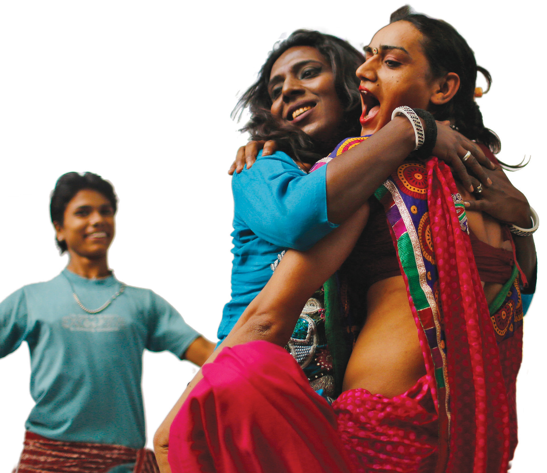 Hijras in Delhi celebrate the Indian Supreme Court's recognition of the marginalized transgender community as 'Third Gender'.