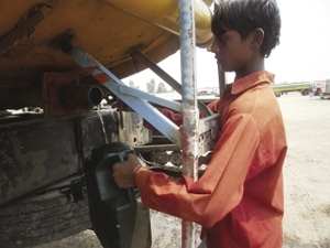 Desperate measures: poverty has driven children into dangerous work. Dr Manzoor Hussain Khattak
