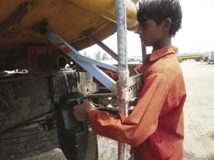 Desperate measures: poverty has driven children into dangerous work.