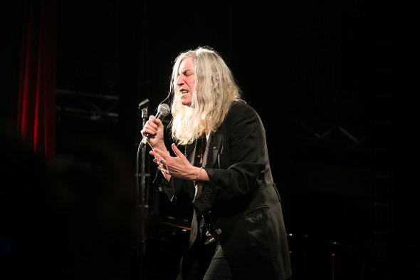 Patti Smith. Pathway to Paris set up by Jesse Paris Smith and Rebecca Foon. Live at Le Trianon, Paris coinciding with the climate summit, the COP21.