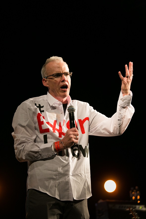 Bill McKibben founder of 350.org. Pathway to Paris set up by Jesse Paris Smith and Rebecca Foon. Live at Le Trianon, Paris coinciding with the climate summit, the COP21.