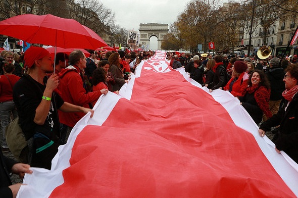 'D12' day of action, Paris, France, 12 December 2015.