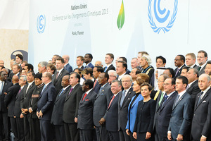 All smiles, no substance: delegates at the Paris climate talks gather for a photo shoot.