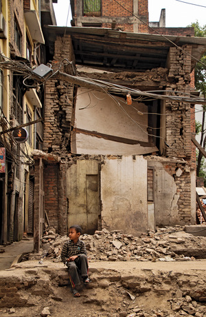The chaos following last year's earthquakes left children in Nepal more vulnerable to traffickers.Photo: Julian Bound