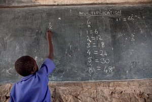 Numbers game: edu-businesses are keen to exploit the profit potential of schools around the world.Photo: Jake Lyell/Water Aid/Alamy Stock Photo