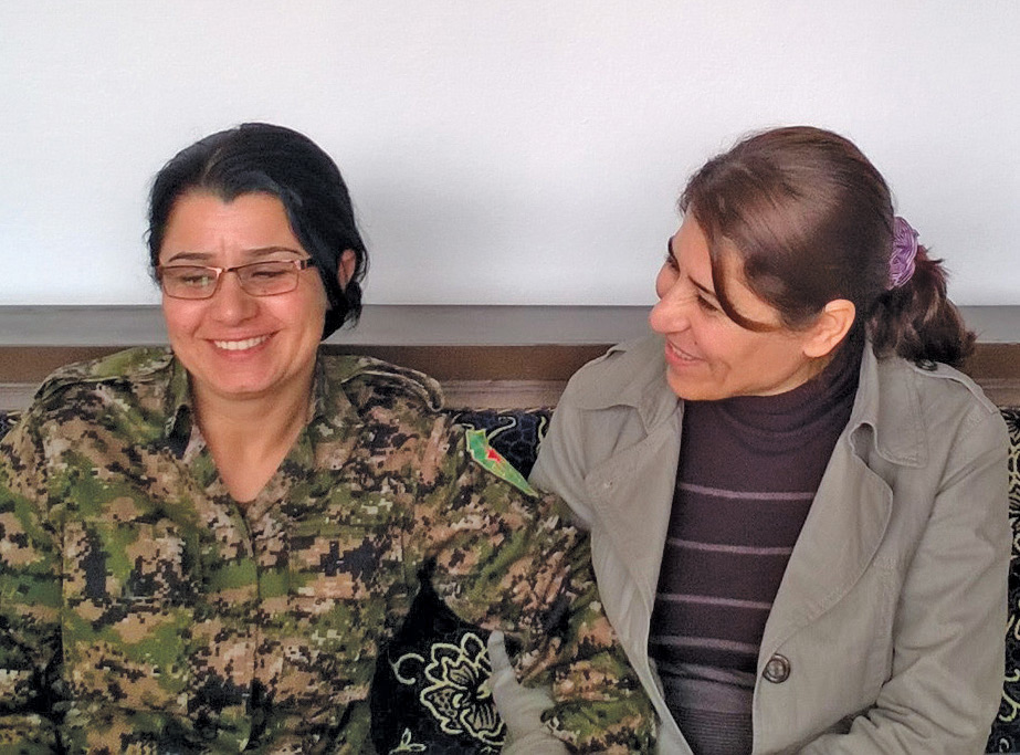 Nesrîn Abdullah, left, with Deputy Minister of Foreign Affairs Amina Osse.