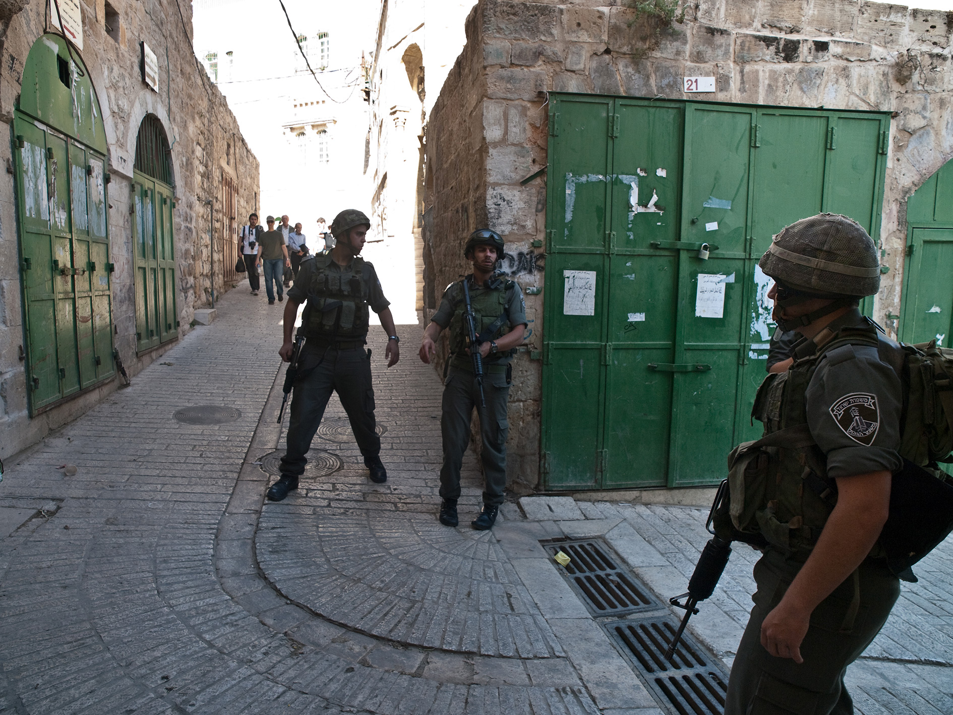 Soldiers in al-Khalil.
