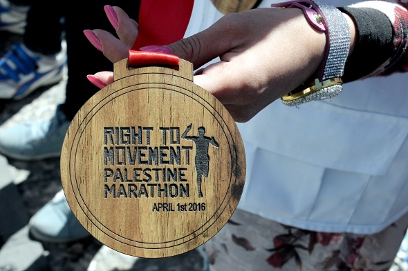 Medals for all participants are made from olive wood. The olive tree in Palestine symbolizes the people's resilience and strong relation to the land.