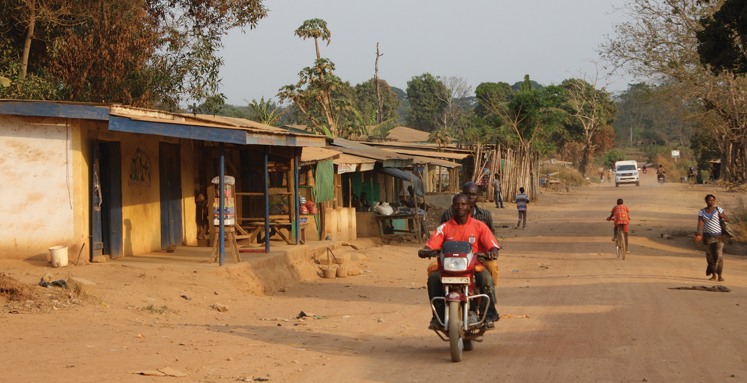 Ground zero: in the words of its paramount chief, Koindu was destroyed first by Sierra Leone's civil war and then by Ebola. Just across the border from Guinea, the town and surrounding villages were the early epicentre of the virus. An ongoing ban on Sunday trading – instigated to quell the epidemic – has also robbed the town of its main market day and livelihood, leaving the streets quiet and empty. </p>  <p>
