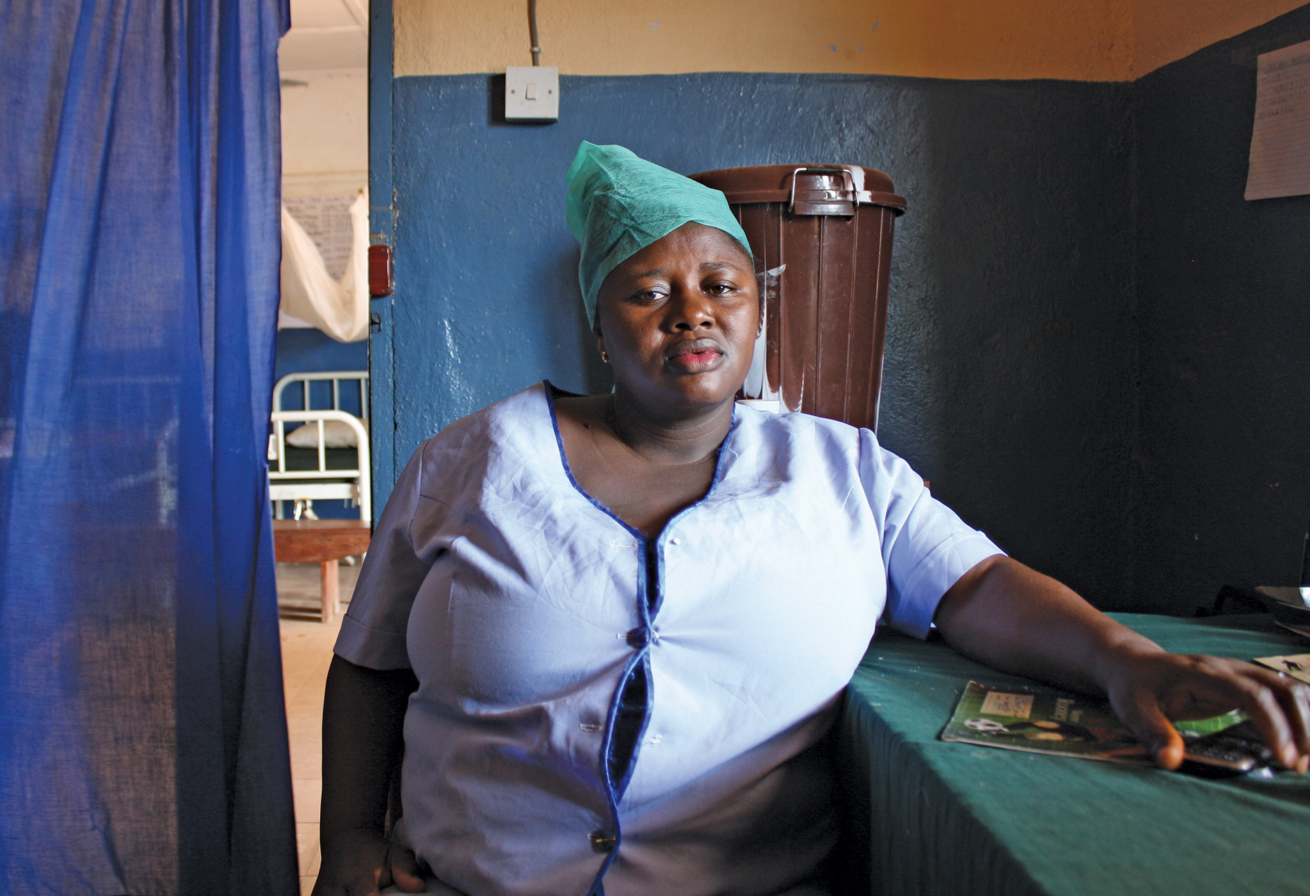 Nurse Nafisatu Jabbi worked throughout the Ebola outbreak in a remote community clinic. The sole survivor of her four-woman team, she is currently working for free while she waits to go on to the government pay roll.