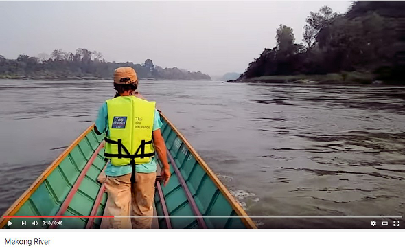 What is it like to ride a longboat down the Mekong River? Click to view the YouTube video.