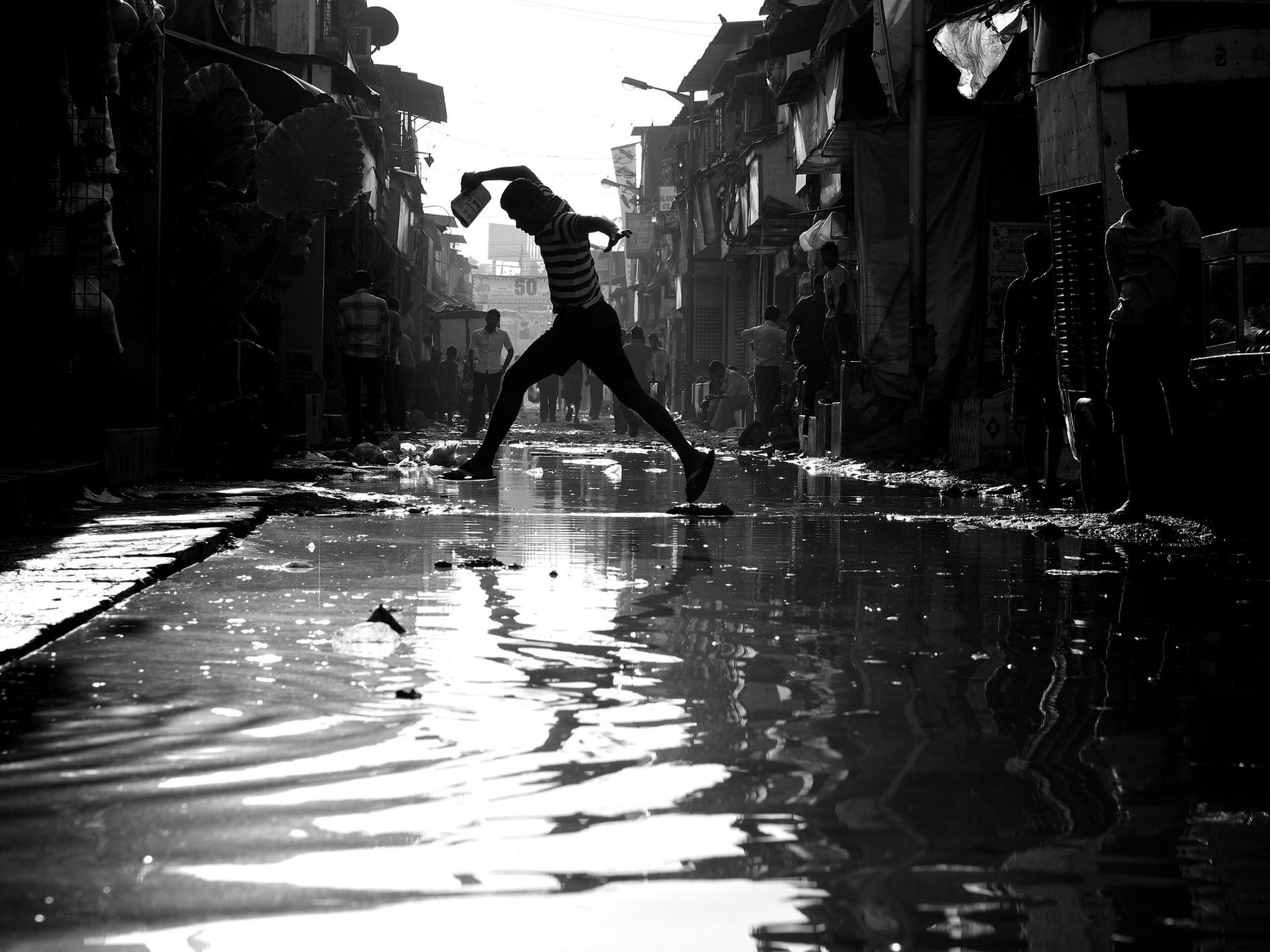 Dharavi slum.