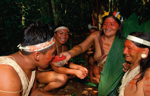 The indigenous peoples of Yasuní retain strong community values. They need to – under the shadow of military and oil company repression. Photo: yasunigreengold.org / Mauro Burzio