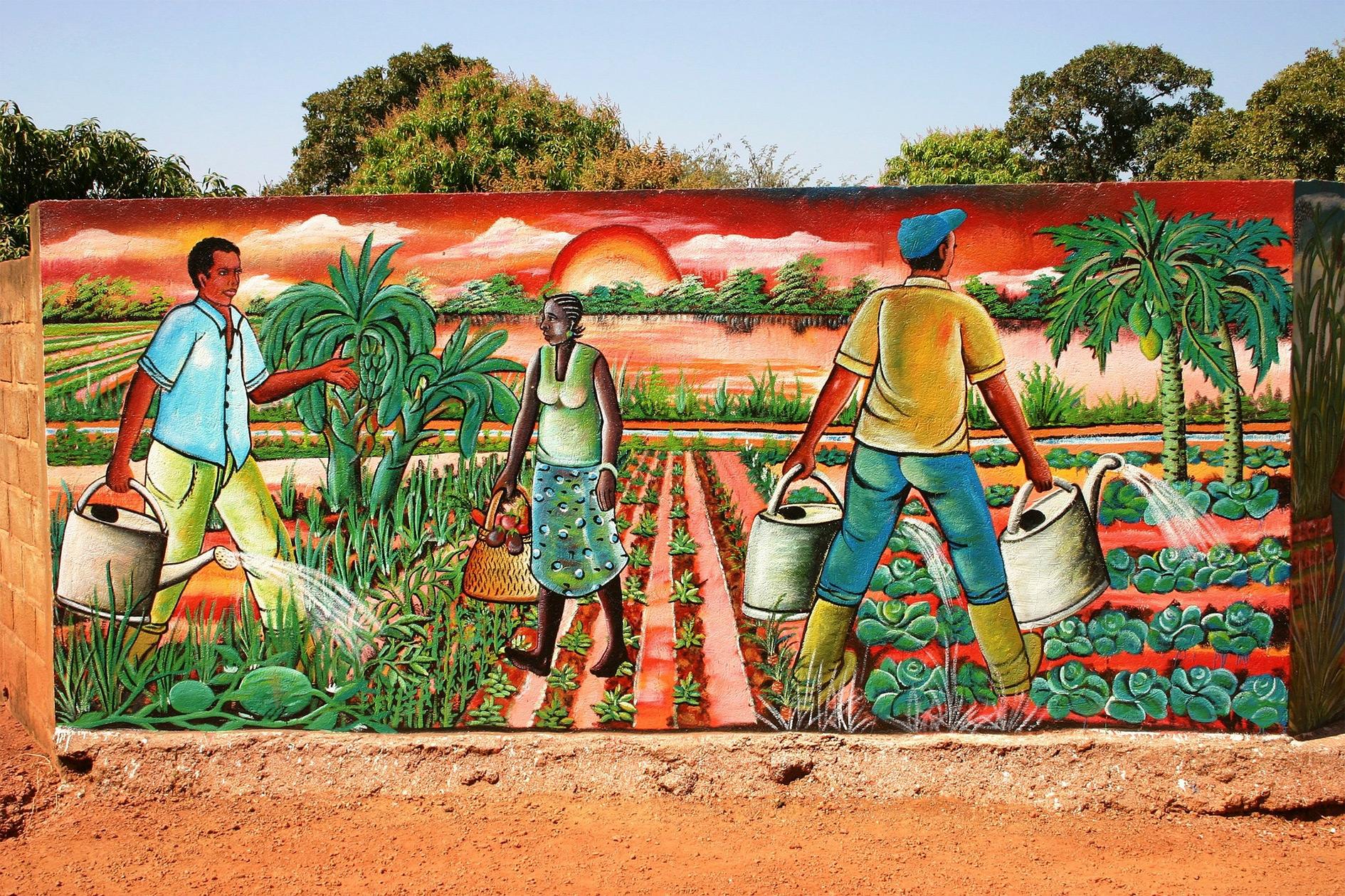 Burkina Faso mural.