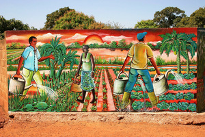 Burkina Faso mural.Photo by RobertoVi