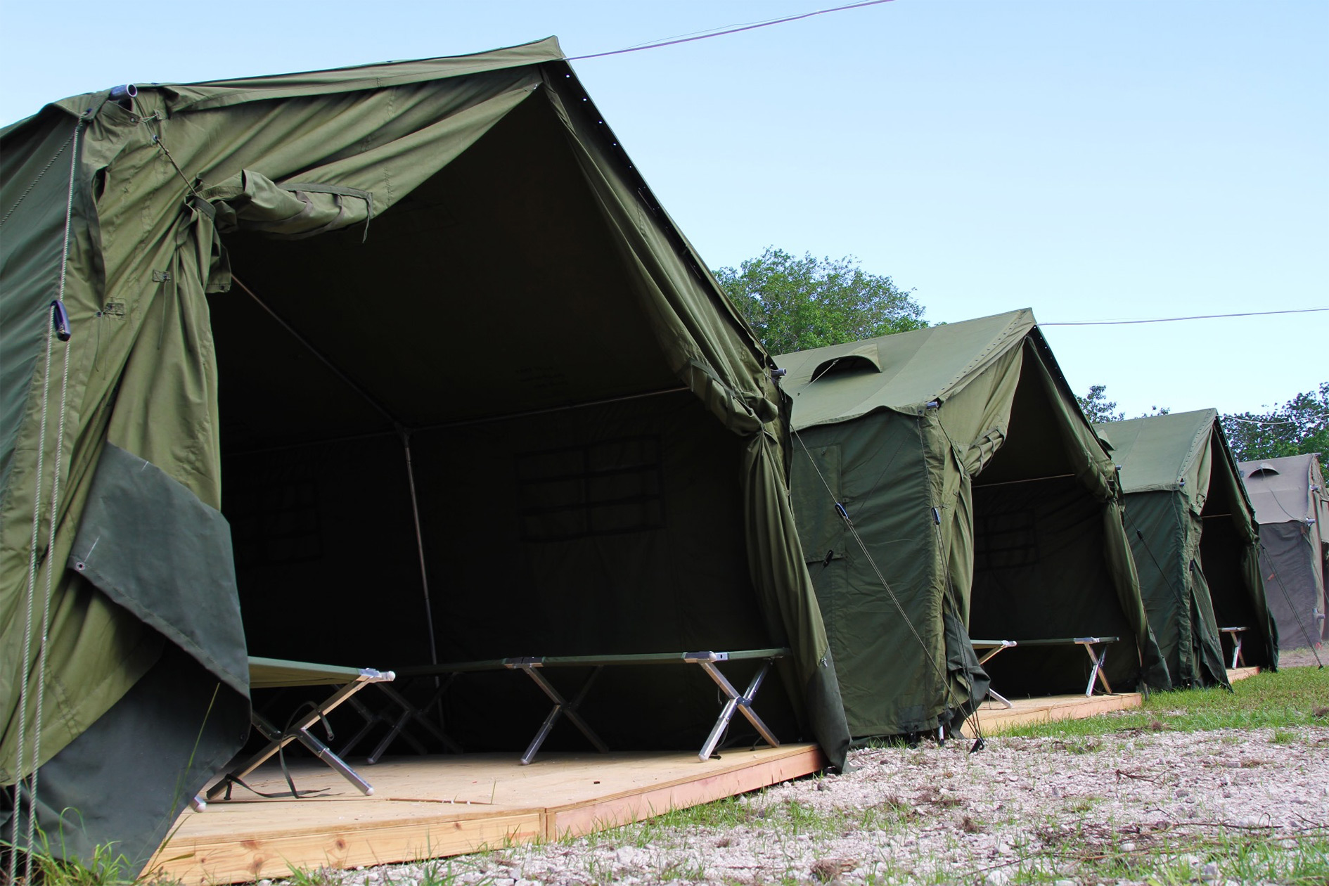 'Accommodation' in the Nauru offshore detention centre. Photo from 2012.