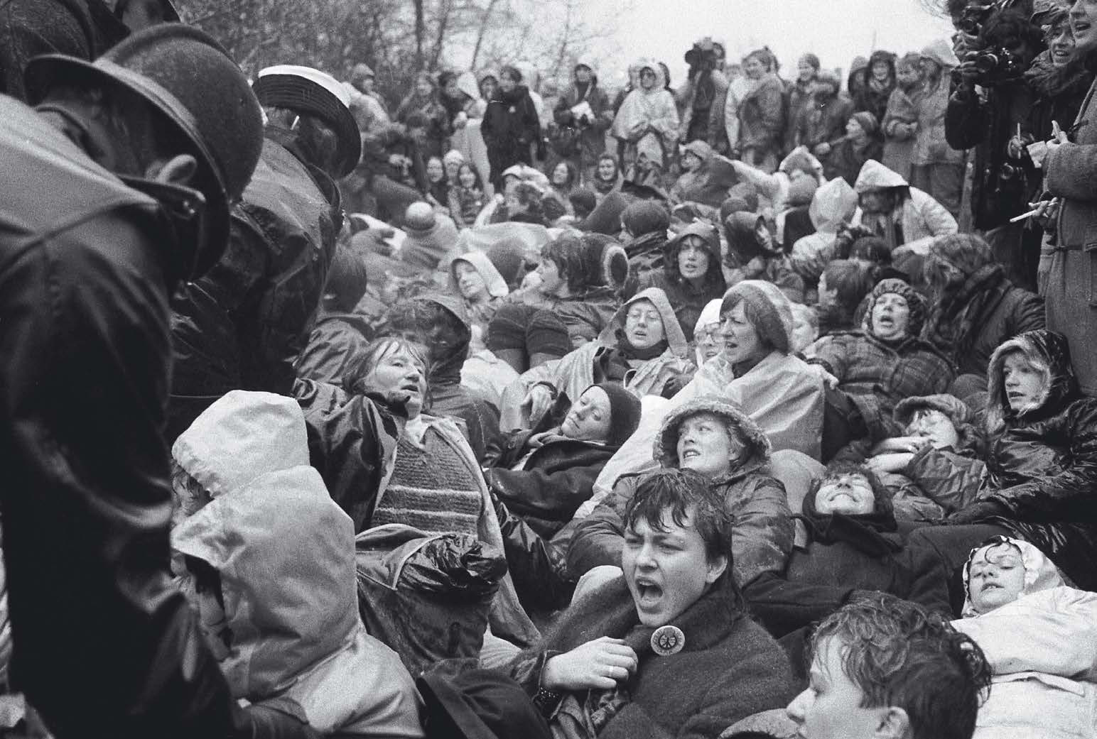 'Take the toys away from the boys': women blockade the US base on Greenham Common, Britain 1982, where cruise missiles are deployed.