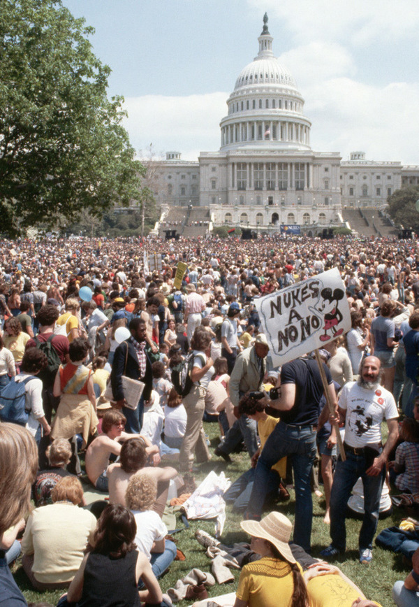Nukes a no-no: hundreds of thousands make their point in Washington, 1982.