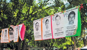 The missing Ayotzinapa teachers remembered in Oaxaca, Mexico.