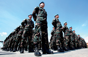 Standing to attention – but how attentive to locals' needs are UN peacekeepers?Photo: Xinhua/Alamy Stock Photo