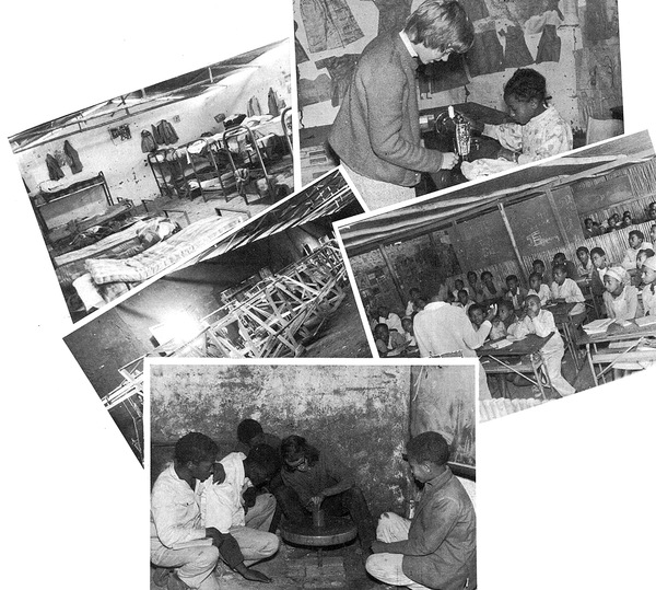 The older pupils teaching the young, a volunteer demonstrating a sewing machine, the looms which Asfaw built himself, the bunk beds in the orphans' dormitory, a lesson on the potter's wheel - everyday scenes at the Asere Hawariat School for the Poor.