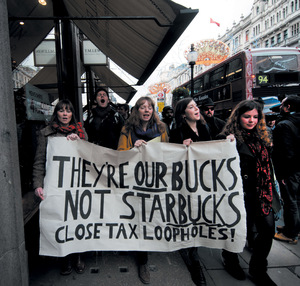 Campaigners help force consumer-sensitive Starbucks to pay $9.7 million in UK taxes – which corporate avoiders are next in the crosshairs? <br />